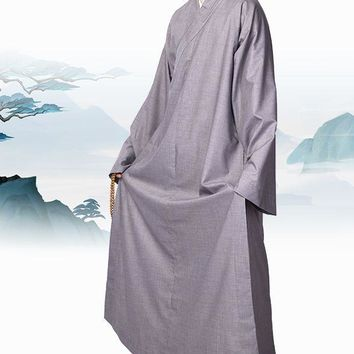 unisex SUMMER&SPRING zen clothing lay meditation suits Buddhist shaolin monks robe kung fu gown uniforms