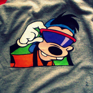 T-shirt Hand Painted Max Goofy Movie (Example)