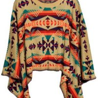 Bohemian Style Knitted Cape [NCSWL0022] - $44.99 :