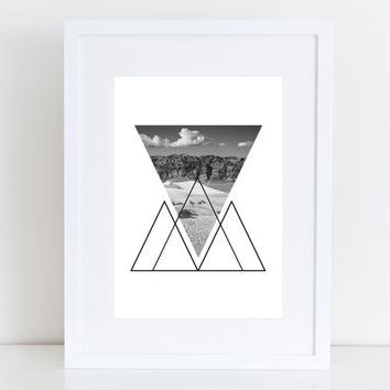 Desert California - Print geometric photography - Instant Download