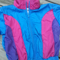 Vintage colorblock windbreaker jacket size 18 months