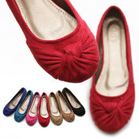 ollio Womens Ballet Flats Loafers Low Heels Comforts Faux Suede Multicolor Shoes