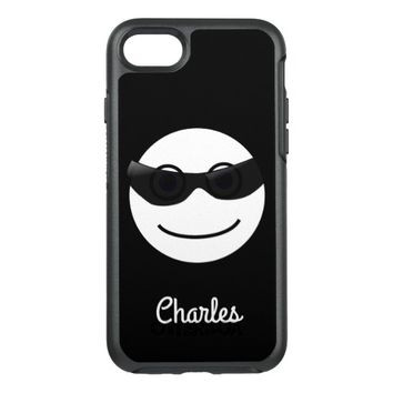 Funny Smiley Face Smiling Happy Black and White OtterBox Symmetry iPhone 7 Case