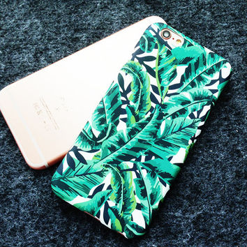 Green Leaves Cute Case for iPhone