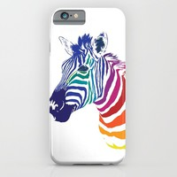 Rainbow Zebra iPhone & iPod Case by Olechka
