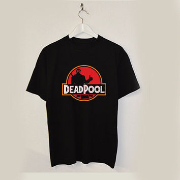 Deadpool Superhero jurassic world parody T-shirt unisex adults USA