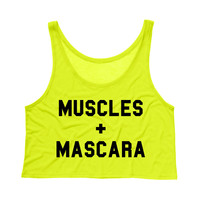Muscles and Mascara Crop Tank Top