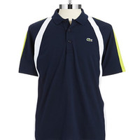 Lacoste Striped Colorblock Polo