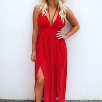 My Heart Flutters Maxi: Red