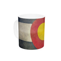 "Bruce Stanfield ""State Flag of Colorado"" Black Red Ceramic Coffee Mug"