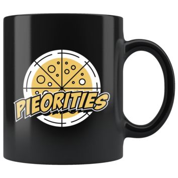 Pieorities 11oz Black Mug