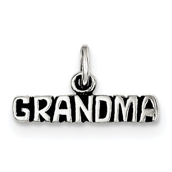 Sterling Silver Antiqued Grandma Charm QC6017