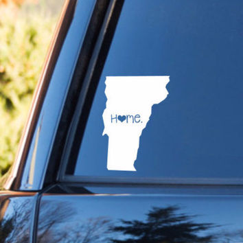 Vermont Home Decal | Vermont Decal | Homestate Decals | Love Sticker | Love Decal  | Country Decal | Preppy | Car Decal | Car Stickers | 085