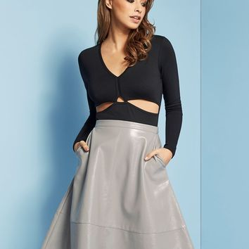 Lost Ink Midi Skirt