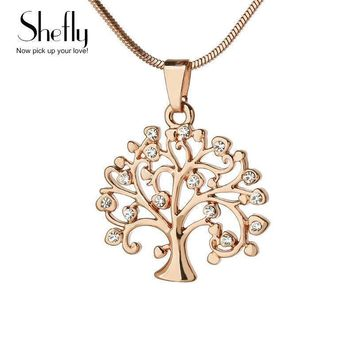 Women Gold , Silver Plated Tree Of Life Design Pendant With Chain