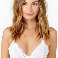 Olivia Triangle Lace Bralette (White)