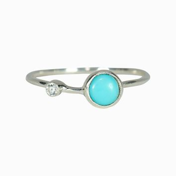 Turquoise Double Stone Ring
