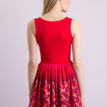 Strawberry dessert - tank skater dress