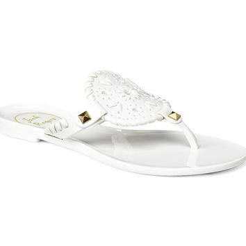 Miss Georgica Jelly Sandal in White by Jack Rogers