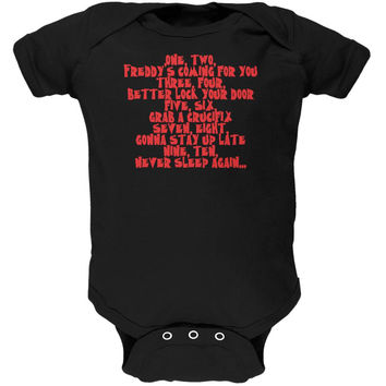 Halloween Nightmare Nursery Rhyme Black Soft Baby One Piece