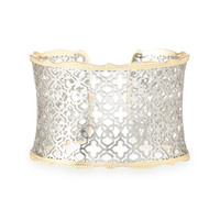 Kendra Scott Candice Gold and Silver Filigree Cuff Bracelet