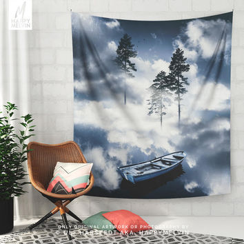 Forest Sailing | Wall tapestry | Tapestry | Wall hangings | Surreal Tapestry | Surreal Art | Nature Photography| Nature Tapestry | Wall Art