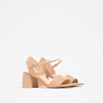 BLOCK HEEL SANDALS WITH ANKLE STRAP - View all-SHOES-WOMAN | ZARA United Kingdom