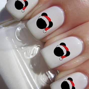 Christmas Mickey Nail Decals