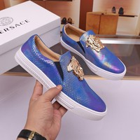 Versace Men Fashion Boots  fashionable casual leather  Breathable Sneakers Running Shoes Sneakers