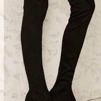 Tight Off the Bat Over-the-Knee Microsuede Boot - Black