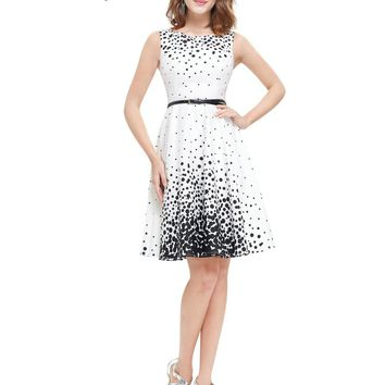 Ever Pretty 2017 New Summer Short Homecoming Dresses HE05446WB White Sweetheart Polka Dot  Sexy Party Homecoming Dress