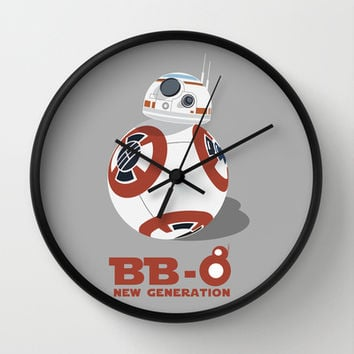 BB-8 The New Generation  Wall Clock by Tony Vazquez