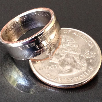 New Mexico, State Quarter Coin Rings