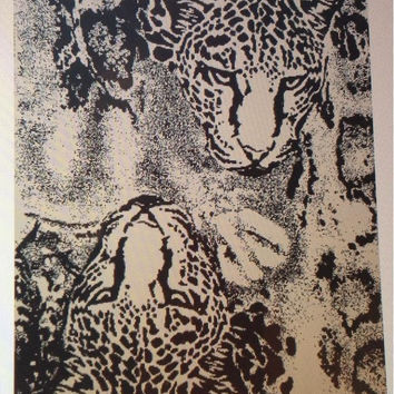 """Wild Tiger"" 40x70 Egyptian Cotton Beach Towel"