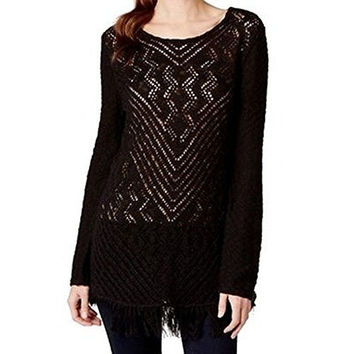 Style & Co. Women's Crochet-Knit Tunic Sweater