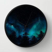 Stary Night  Wall Clock by North Star Artwork