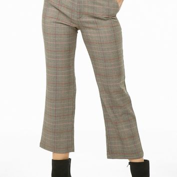Glen Plaid Flare Ankle Pants