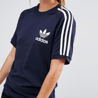 adidas Originals Adicolour Boyfriend T-Shirt With 3 Stripe