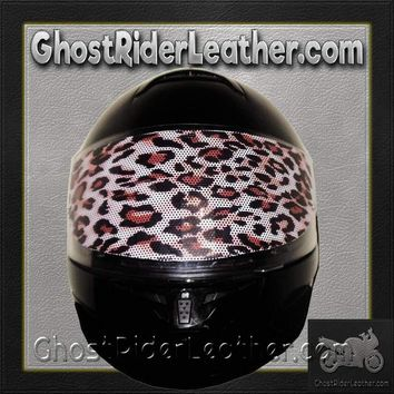 Cheetah Motorcycle Helmet Visor Sticker / SKU GRL-CHEETAH-HI