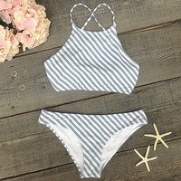 Cupshe Stripe Season Tank Bikini Set