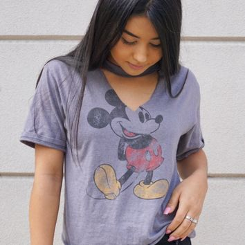 Mickey Mouse Grey Tee