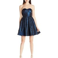 My Michelle Junior's Strapless Fit and Flare Short Prom Dress