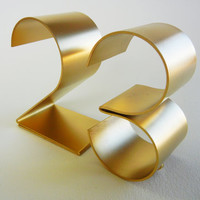 Metal table numbers freestanding for weddings/events/parties-Empire 4""