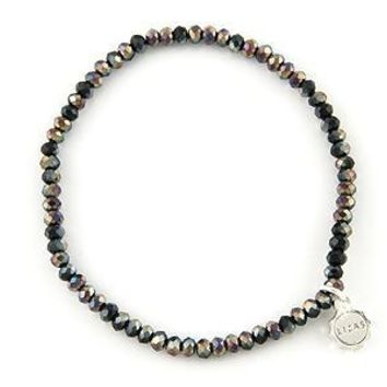 Knoxville Black Silver Sparkle Bracelet