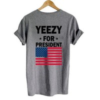 Ye for President back grey t shirt