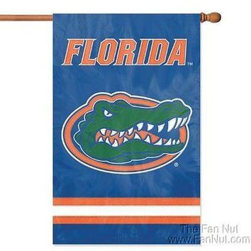 Florida Gators 2-sided 28x44 Embroidered Applique Banner Flag University of