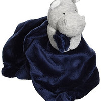 Carter's Plush Security Blanket Hippo, Grey/Navy