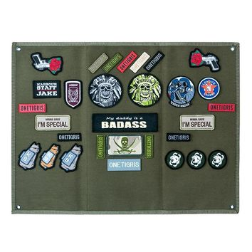 OneTigris Tactical Patch Holder Board Patch Badges Folding Mat for All Morale Patches ID Patches Name Tapes