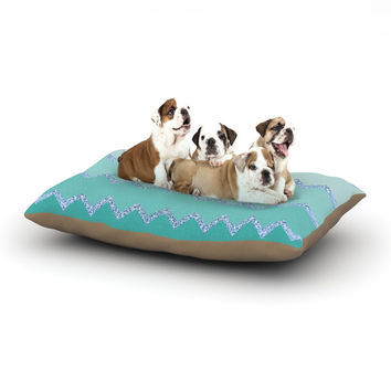 "Monika Strigel ""Avalon Mint Ombre"" Aqua Green Dog Bed"