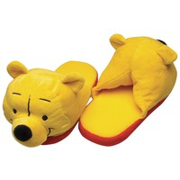 Winnie The Pooh - Big Face Juniors Plush Slippers
